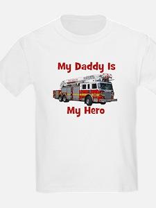Daddy Is My Hero FireTruck T-Shirt