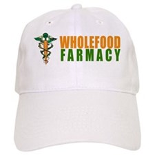 Wholefood Farmacy White Logo Baseball Baseball Cap