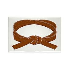 Brown Belt Rectangle Magnet (10 pack)