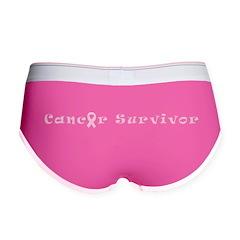 Cancer Survivor Women's Boy Brief Shorts Underwear