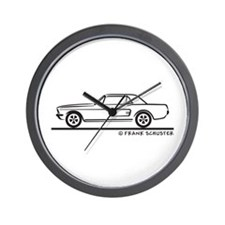 1968 Mustang Hardtop Wall Clock