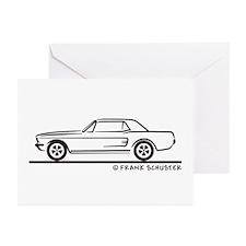 1968 Mustang Hardtop Greeting Cards (Pk of 10)