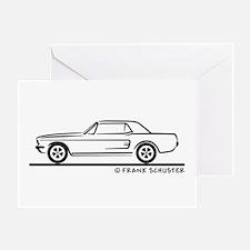1968 Mustang Hardtop Greeting Card