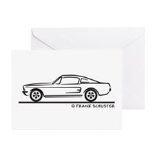 1968 Mustang Fastback Greeting Cards (Pk of 10)