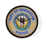 Henderson Police Wall Clock
