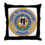 Henderson Police Throw Pillow