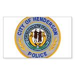 Henderson Police Sticker (Rectangle 10 pk)