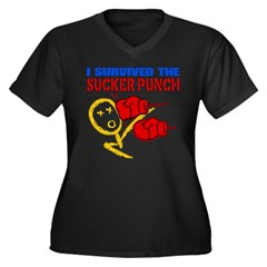 Sucker Punch Women's Plus Size V-Neck Dark T-Shirt