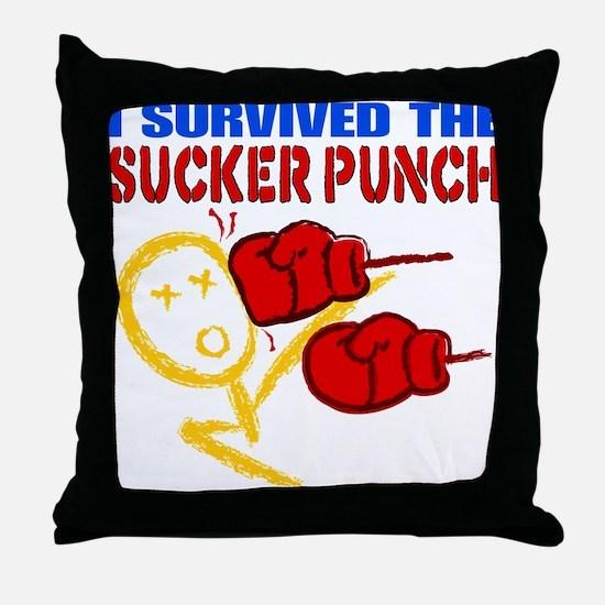 Sucker Punch Throw Pillow