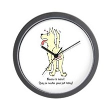 Neuter Dog Wall Clock