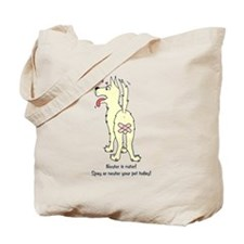 Neuter Dog Tote Bag