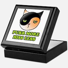 Purr More Hiss Less Keepsake Box