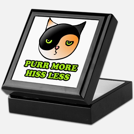 Purr More Hiss Less Keepsake Box
