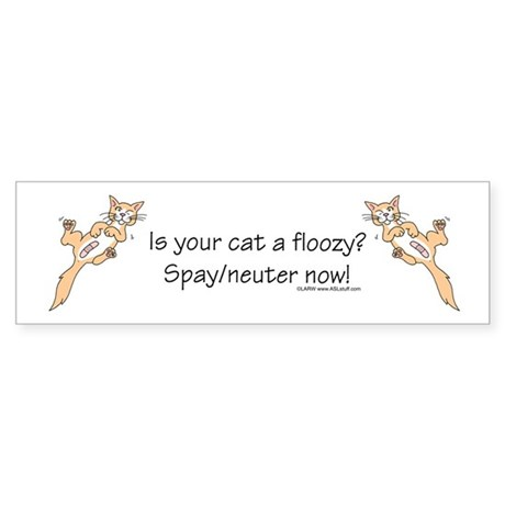 Floozy Cat Sticker (Bumper)