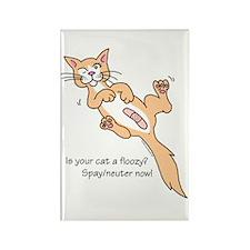 Floozy Cat Rectangle Magnet