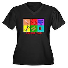 Funny Dialysis nurse Women's Plus Size V-Neck Dark T-Shirt