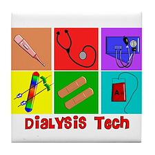Cute Dialysis nurse Tile Coaster