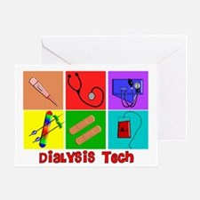 Cool Dialysis tech Greeting Card