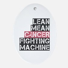 Breast Cancer Fighter Ornament (Oval)