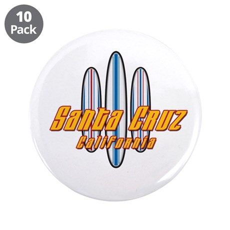 "Santa Cruz and Boards 3.5"" Button (10 pack)"