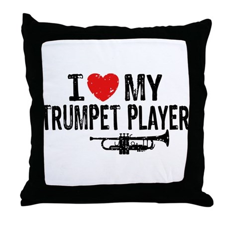 I love My Trumpet Player Throw Pillow