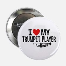 "I love My Trumpet Player 2.25"" Button"