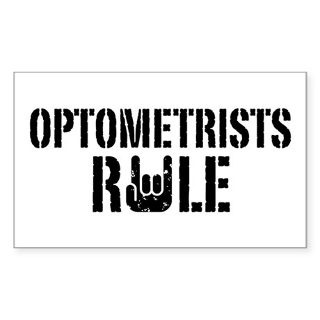 Optometrists Rule Sticker (Rectangle)
