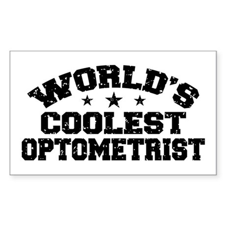 World's Coolest Optometrist Sticker (Rectangle)