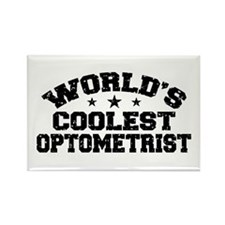 World's Coolest Optometrist Rectangle Magnet
