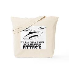 Martians Attack Tote Bag