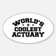 World's Coolest Actuary Decal