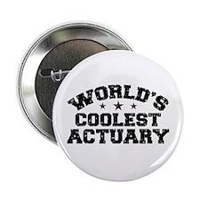 "World's Coolest Actuary 2.25"" Button"