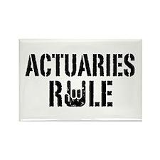 Actuaries Rule Rectangle Magnet