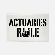 Actuaries Rule Rectangle Magnet