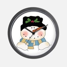 Holiday Snowman Wall Clock