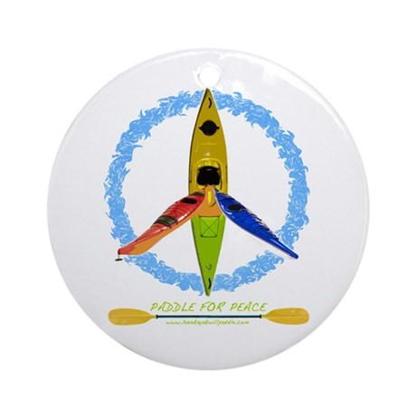 PADDLE FOR PEACE Ornament (Round)