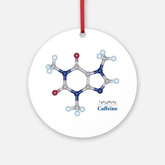 The Caffeine Molecule Ornament (Round)