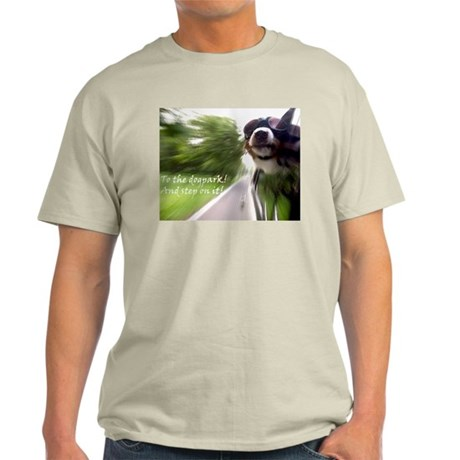 To the Dogpark! Ash Grey T-Shirt