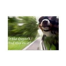 To the Dogpark! Rectangle Magnet
