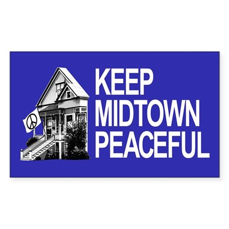 Keep Midtown Peaceful Sticker (Rectangle 10 pk)