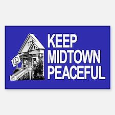 Keep Midtown Peaceful Sticker (Rectangle)