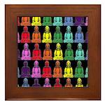 Buddha Rainbow Framed Tile