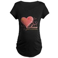 Risa 2 for black shirt Maternity T-Shirt