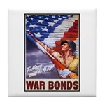 Have & Hold American Flag Tile Coaster
