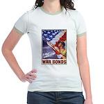 Have & Hold American Flag (Front) Jr. Ringer T-Shi