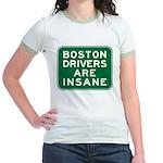 Boston Drivers Are Insane Jr. Ringer T-Shirt