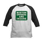 Boston Drivers Are Insane Kids Baseball Jersey