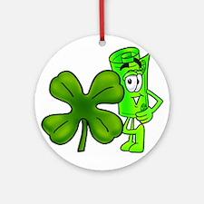 Mr. Deal - Green Clover Ornament (Round)