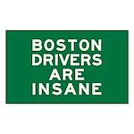 Boston Drivers Are Insane Sticker (Rectangle)