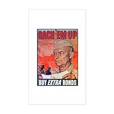 Eisenhower Back Em Up Rectangle Decal